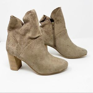 Seychelles Leather Textured Block Heel Booties 7.5